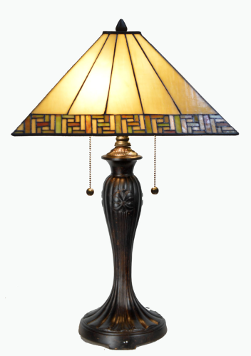 Large Traditional Tiffany Table Lamp