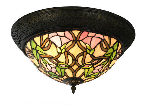 Tiffany Style Flush Fitting Ceiling Light