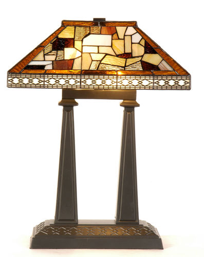 Medium to Large Traditional Tiffany Table Lamp