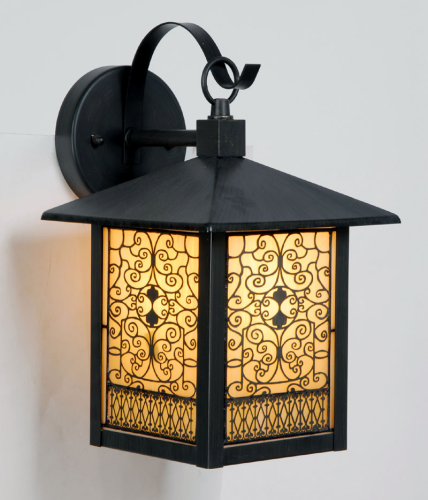 A Beautiful Large Tiffany Outdoor Wall Light