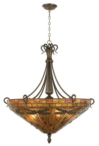 Tiffany Style Ceiling Uplighter (Large)