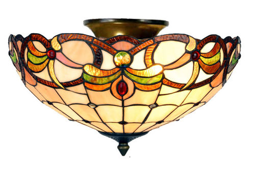 Tiffany Style Ceiling Uplighter