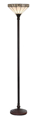 Tiffany Style Torchiere Uplight Floor Lamp